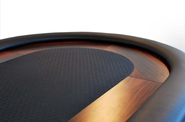 oval poker table black caiman tradicion. Black Bedroom Furniture Sets. Home Design Ideas