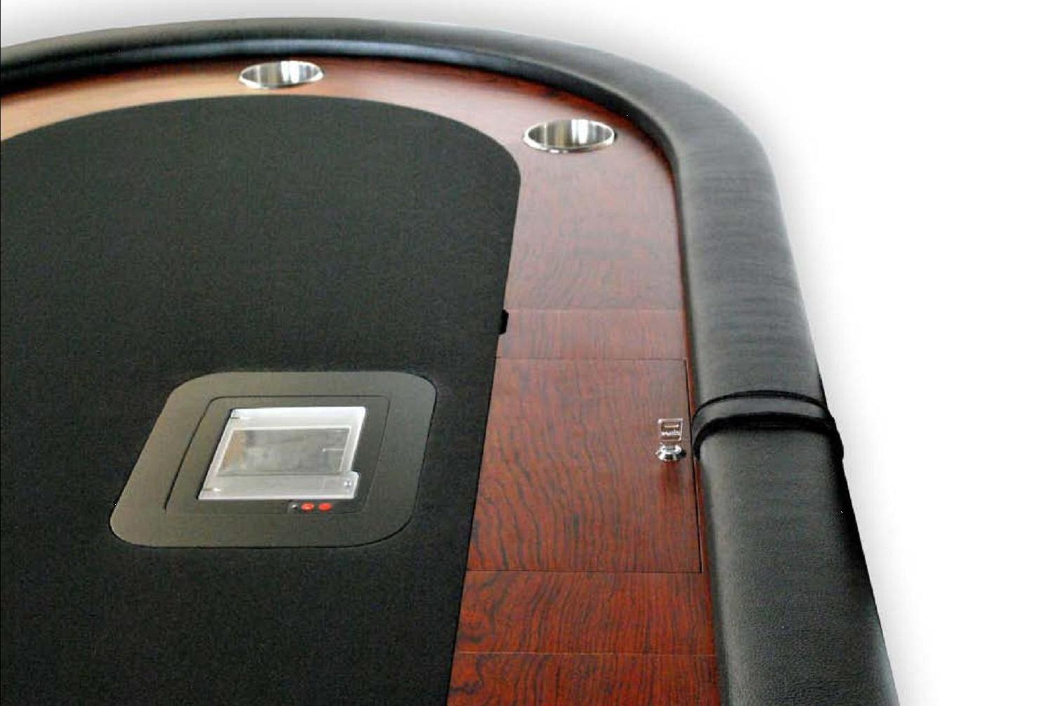 Mesa de poker oval caiman tradicion negra sitio croupier for Mesas de poker segunda mano