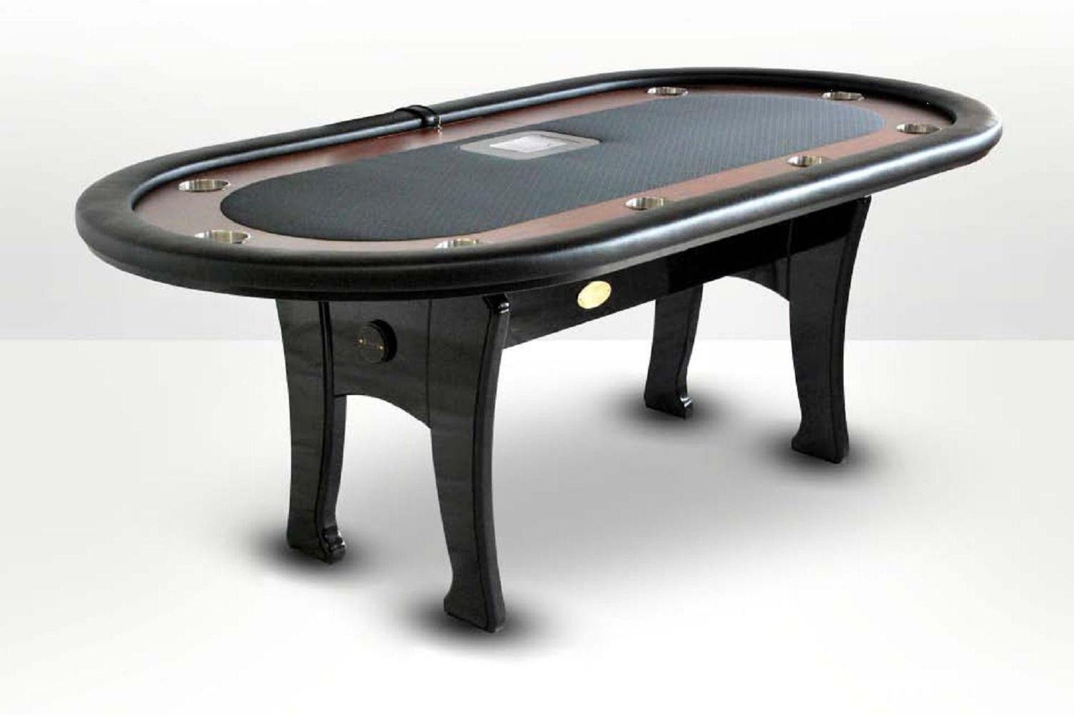 Mesa de poker oval caiman tradicion negra sitio croupier for Juego de mesa cash flow