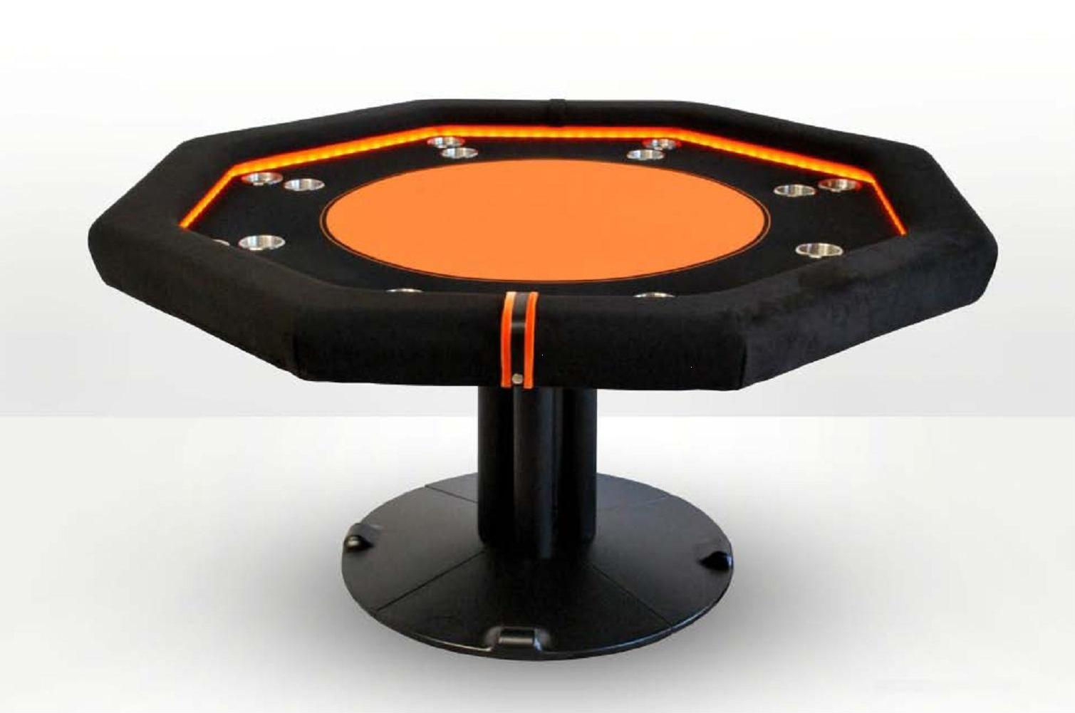 table de poker ovale caiman loisir metal orange. Black Bedroom Furniture Sets. Home Design Ideas