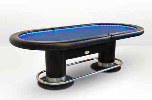 Oval Poker Table blue CAIMAN CASINO EX