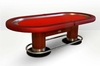 Oval Poker Table red CAIMAN CASINO EX