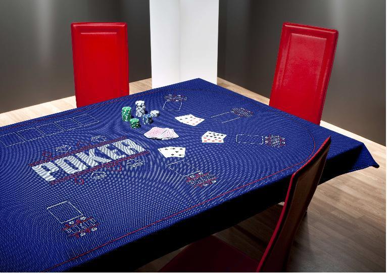 Blue poker felt