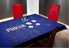 Rectangular Poker Table Cloth blue
