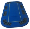 Rectangular Poker Table Top blue