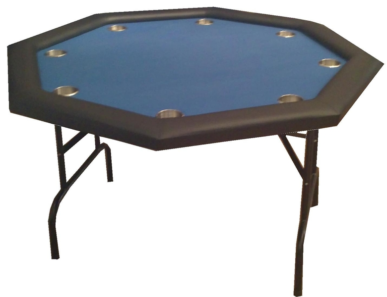 table de poker pliante octogonale bleue. Black Bedroom Furniture Sets. Home Design Ideas