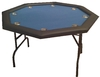 Octagonal Foldable Poker Table blue