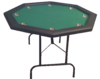 Octagonal Foldable Poker Table green