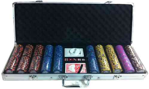 500 poker chips set Clay Montecarlo 2