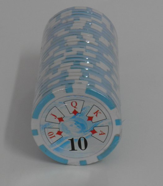 Recargas 25 Fichas Poker Royal Straight valor 10