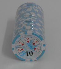 Rolls of 25 Royal Straight Poker Chips value 10
