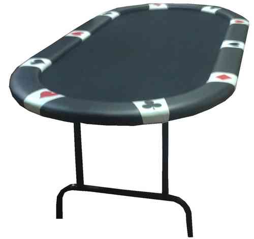 Mesa de Poker plegable oval bordes logo