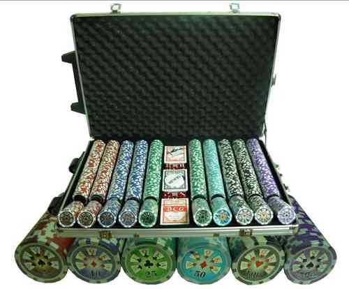 1000 poker chips set Royal Straight