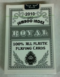 Cartas Royal 100% plástico Jumbo doble vision gris