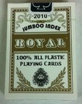 Cartas Royal 100% plástico Jumbo doble vision ouro