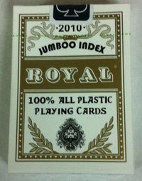 Cartas Royal 100% plástico Jumbo doble vision oro