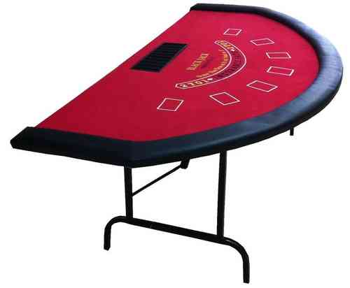 Mesa de Blackjack tapete rojo