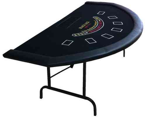 Mesa de Blackjack tapete negro