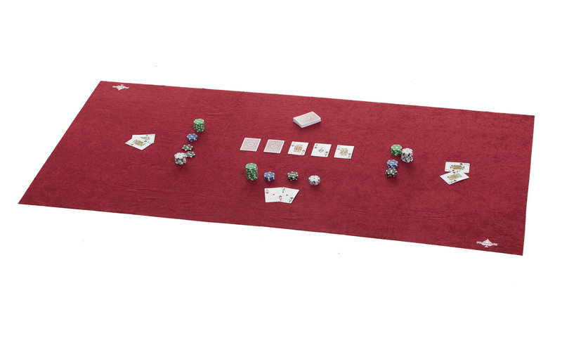 Red poker table felt