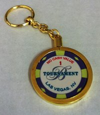 Poker Key Ring Bellagio chip 1