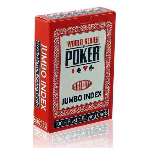 WSOP Poker Cards 100% plastic Red