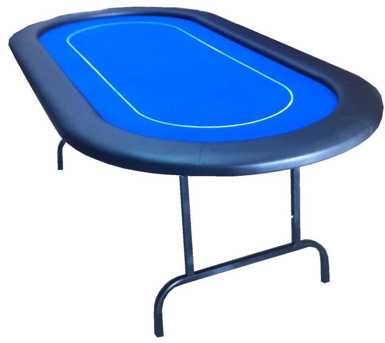 foldable oval poker table blue. Black Bedroom Furniture Sets. Home Design Ideas