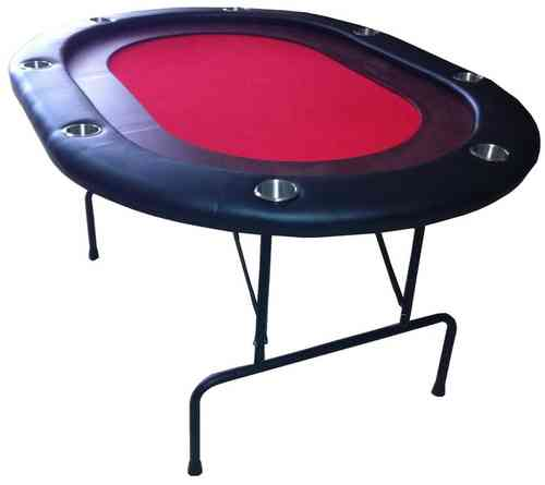 HIGH RANGE Oval Foldable Poker Table Red 8 Pax 139.99 ...