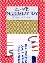 Mandalay Bay Playing Card Las vegas Casino