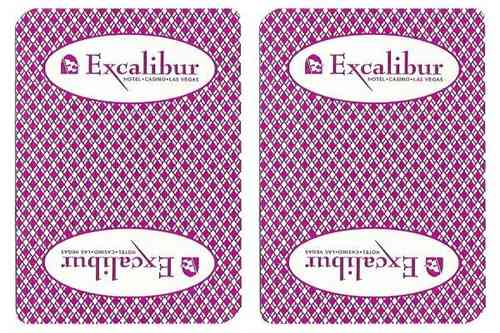Excalibur Playing Card Las vegas Casino