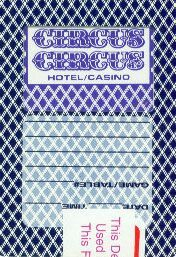 Circus Circus Playing Card Las vegas Casino