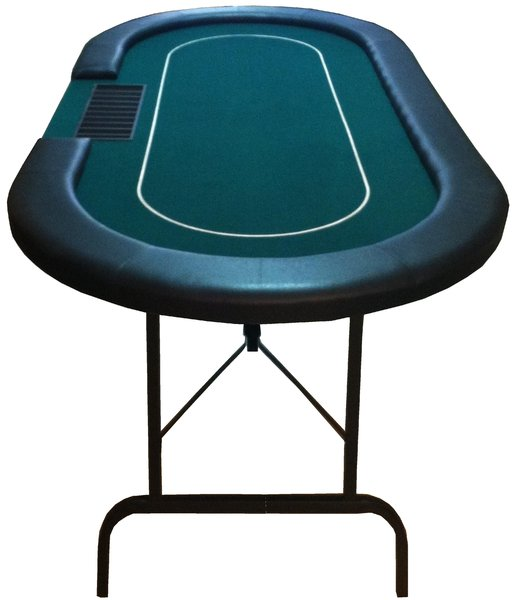 table de poker ovale pliable verte croupier. Black Bedroom Furniture Sets. Home Design Ideas