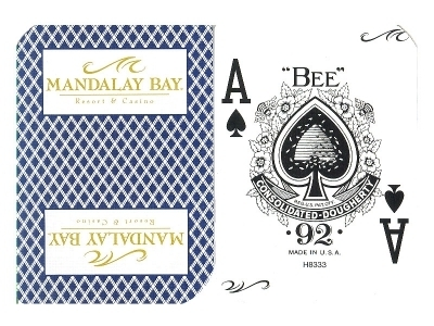 Mandalay Bay Playing Card Vegas Casino blue