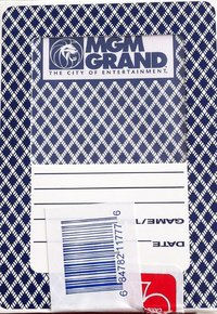 Cartas do MGM Casino Las Vegas Azul