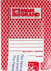 MGM GRAND Playing Card Vegas Casino red
