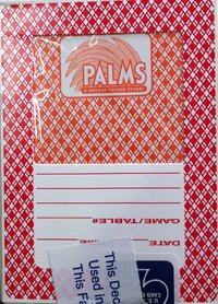Palms Playing Card Vegas Casino red