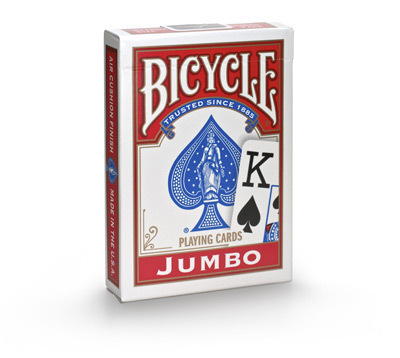 Bicycle Jumbo cards red