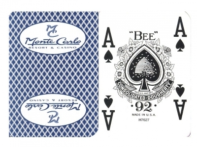 Monte Carlo Resort and Casino Playing Card