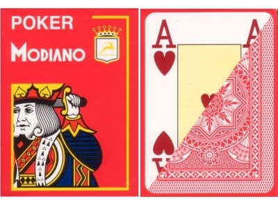 Modiano Poker Cards red