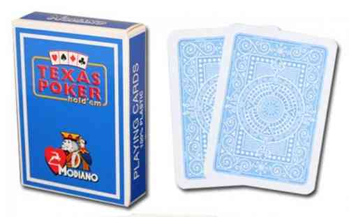 Modiano Texas Poker Jumbo azul Claro