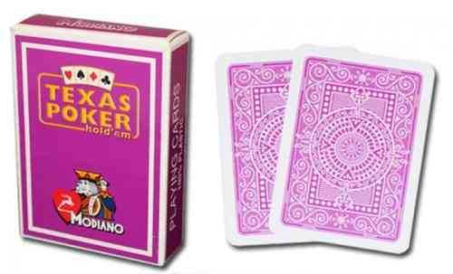 Modiano Texas Poker Cards purple