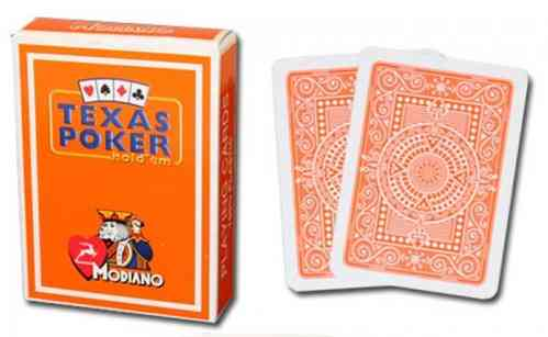 Modiano Texas Poker Cards orange