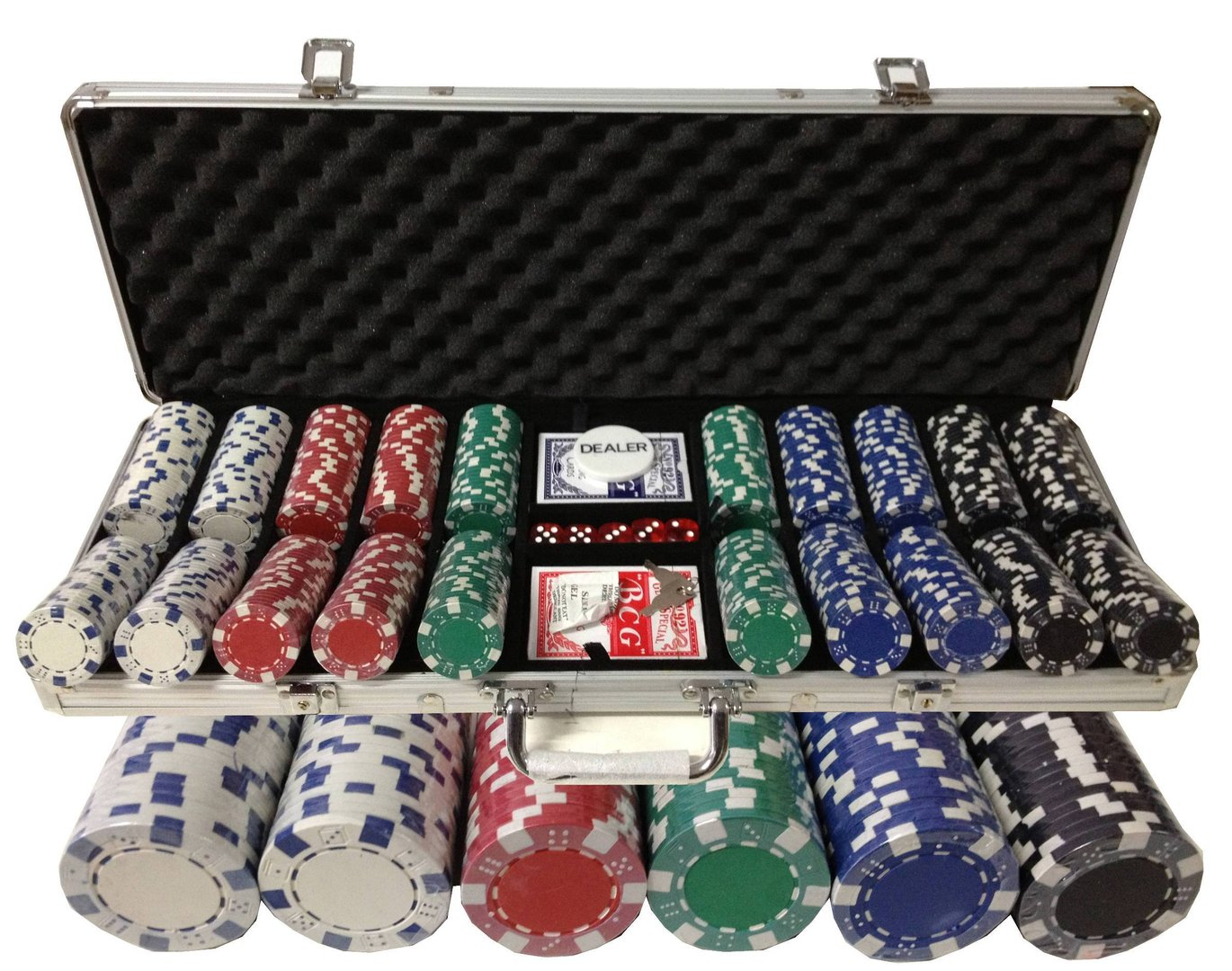 Poker chip set clipper lighters poker