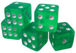 Set 5 green dices