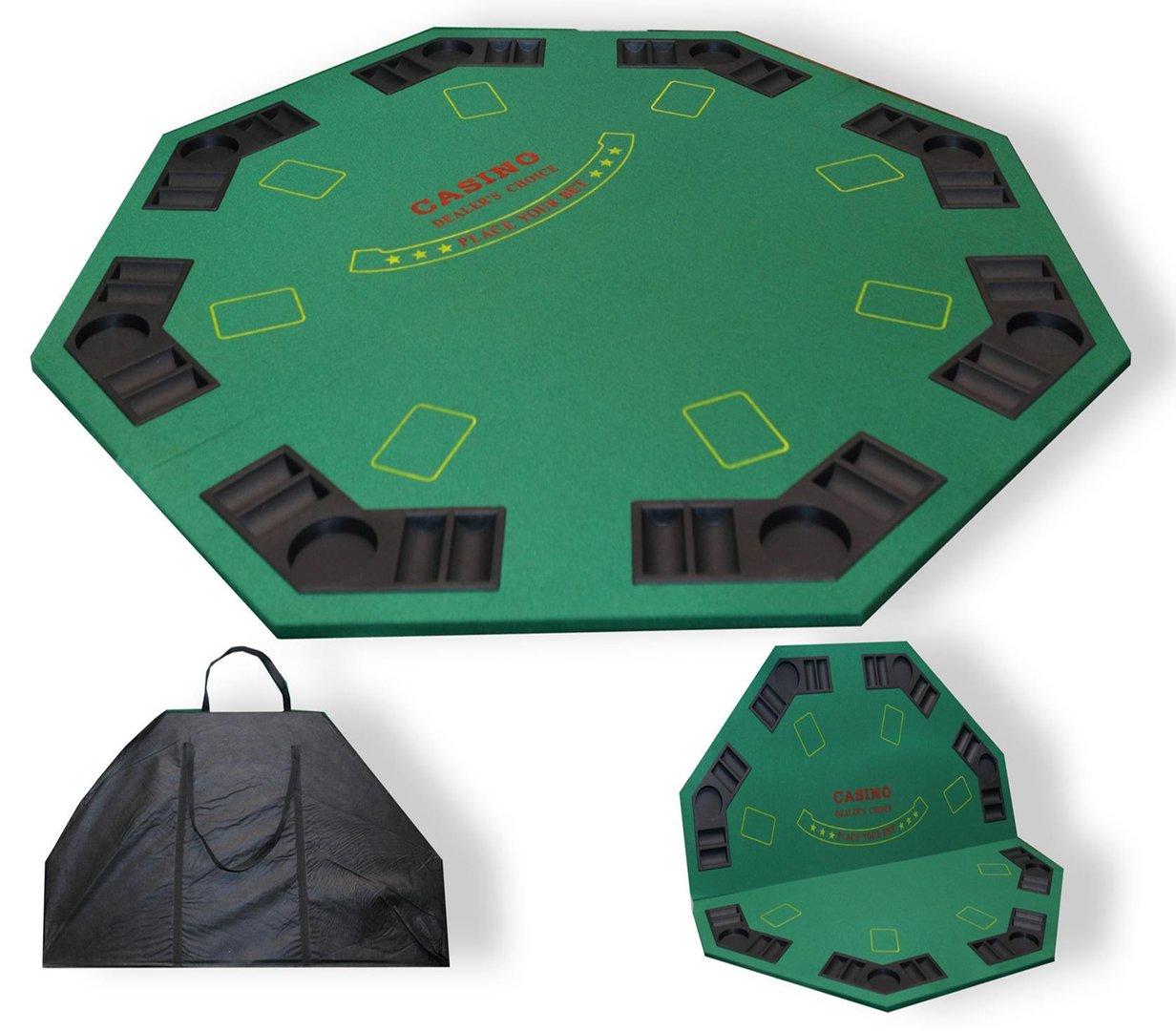 Dessus De Table Poker Octogonal 2 Parties