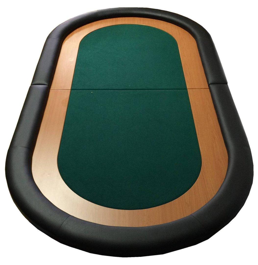 Oval Poker Table Top green - PokerProductos.com