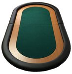 Table top poker oval vert