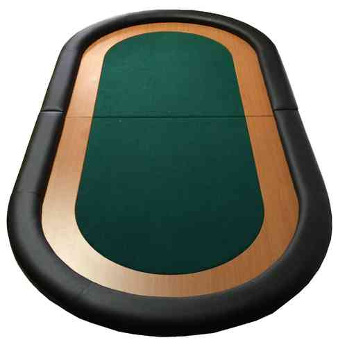 Oval Poker Table Top green