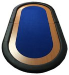 Table top poker oval bleu