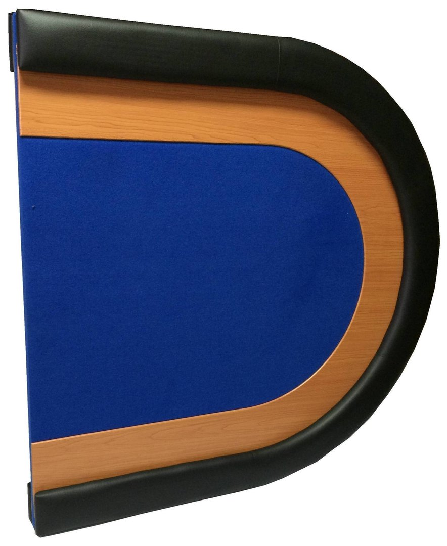 Oval poker table top blue for 10 player poker table top