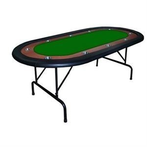HIGH RANGE Foldable Oval Poker Table green